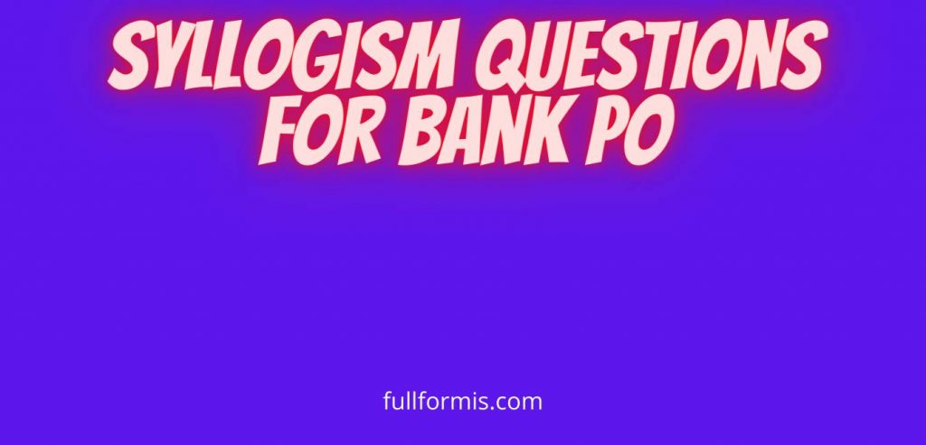 syllogism questions