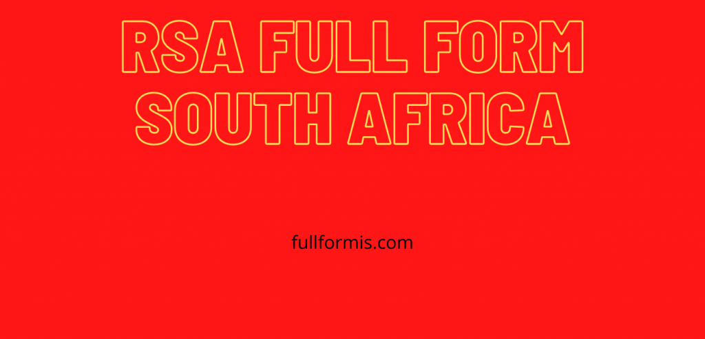 rsa full form