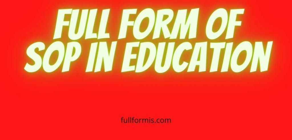 SOP Full Form
