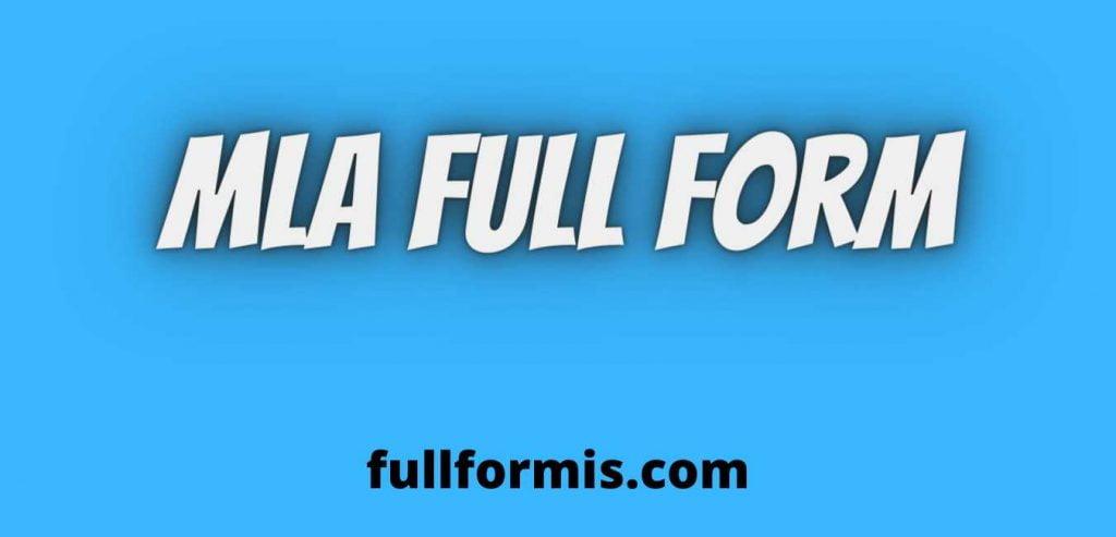 MLA full form