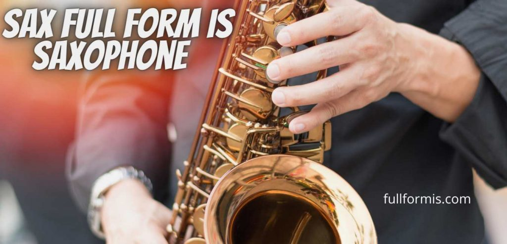 sax full form and meaning