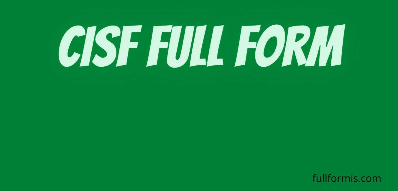 cisf full form