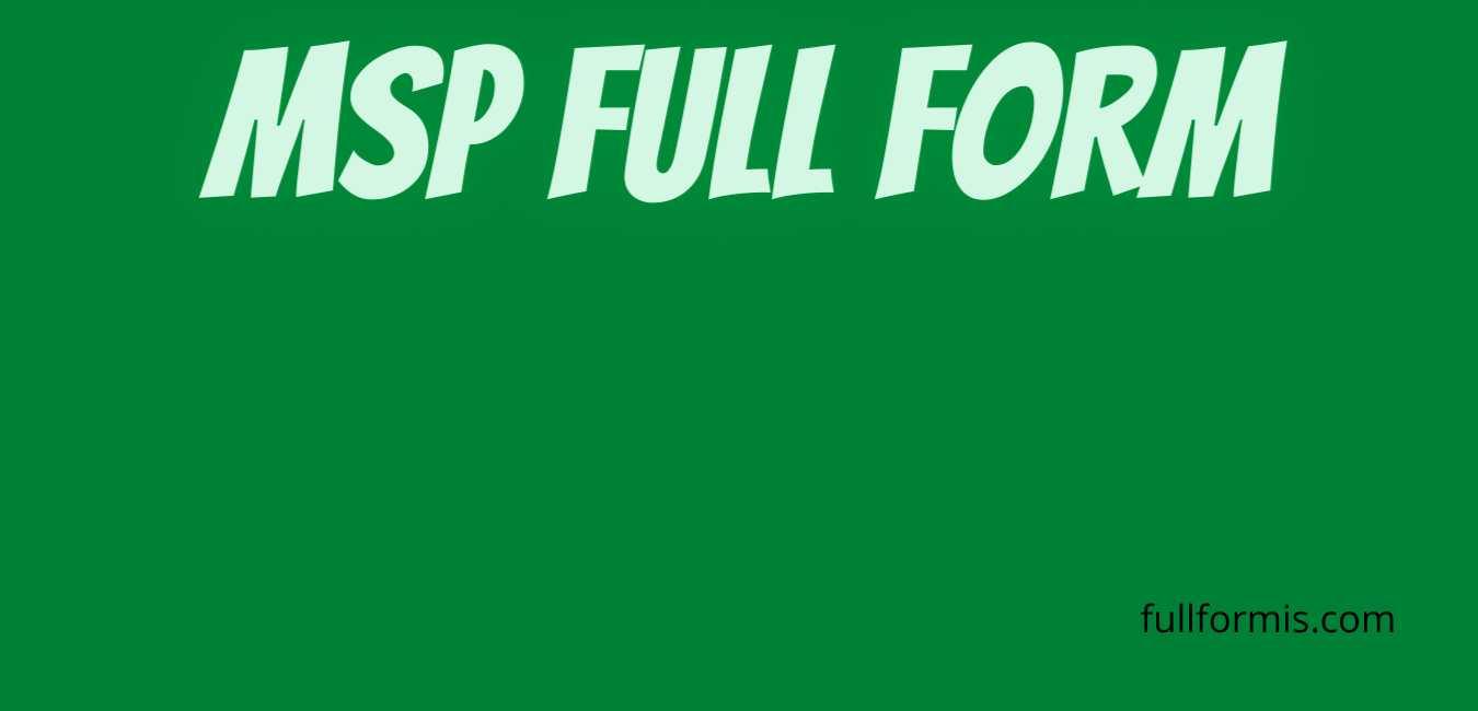 msp full form