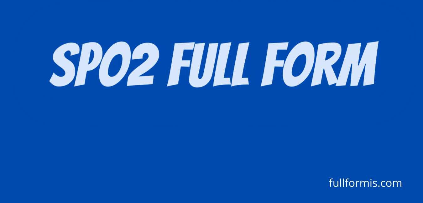 spo2 full form