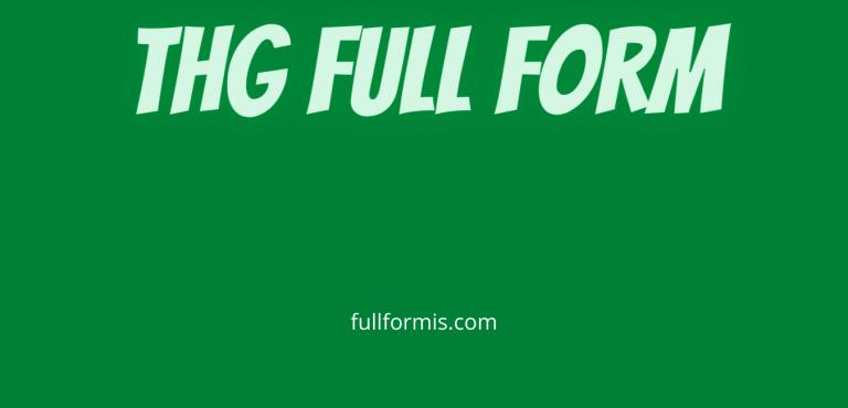 thg full form