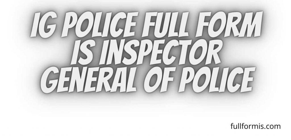 police full form
